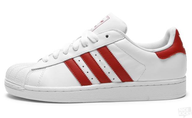 adidas superstar 2 white red